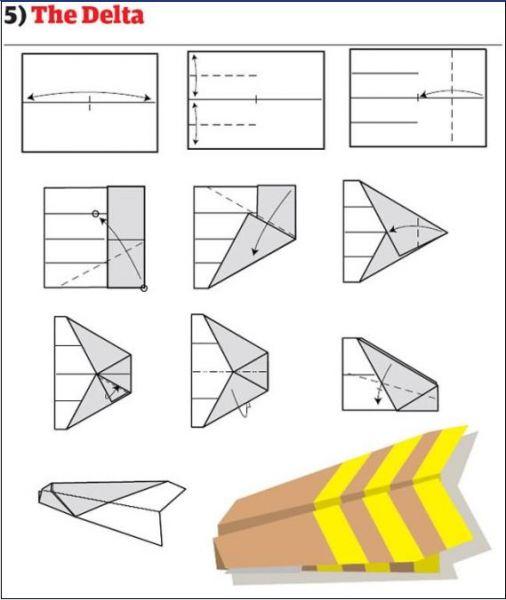 Origami seni melipat kertas menjadi 12 jenis pesawat terbang