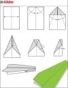 origami pesawat - 1